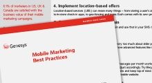 Genesys Mobile Marketing Best Practices