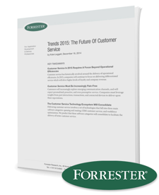 Forrester Trends 2015: The Future of Customer Service