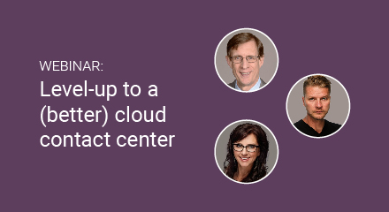 Level up to a better cloud contact center webinar en 440×240 webinar thumbnail
