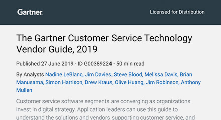 Gartner customer service technology vendor guide thumbnails resource center