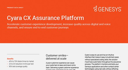 Cyara cx assurance platform resource center en