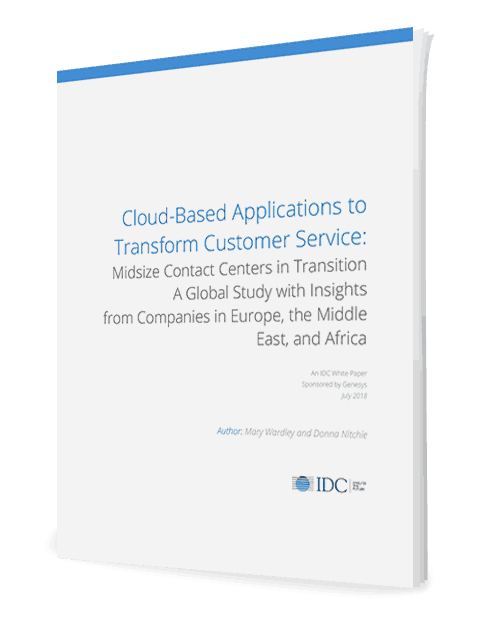 2018 IDC Report on Mid-Size Contact Center in Transition to Cloud - EMEA