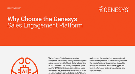 Why choose the genesys sales engagement platform