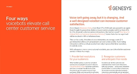 four ways voicebots elevate call center customer service