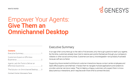 Empower your agents: give them an omnichannel desktop