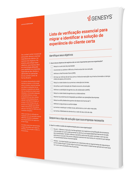 [the essential migration checklist for identifying the right customer experience solution cl] 3d {pt]