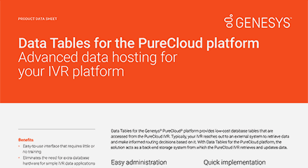 Data tables for purecloud ds resource center en