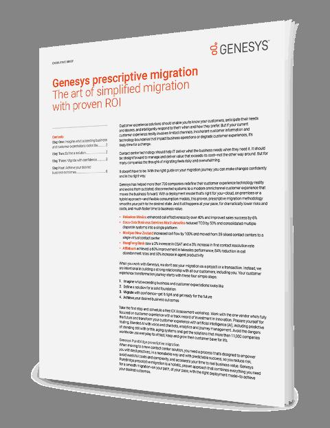 Genesys prescriptive migration ex 3d en