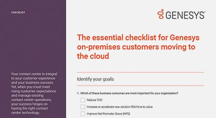 Essential checklist for genesys on premises customers cl en thumbnail kit resource center