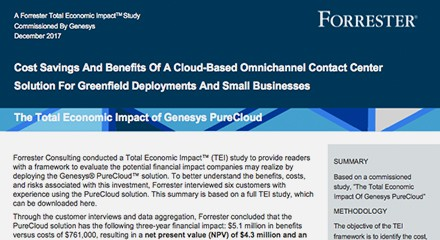A forrester total economic impact study resource center en
