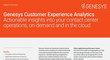 Genesys Customer Experience Analytics