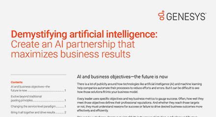 Maximize business results with ai