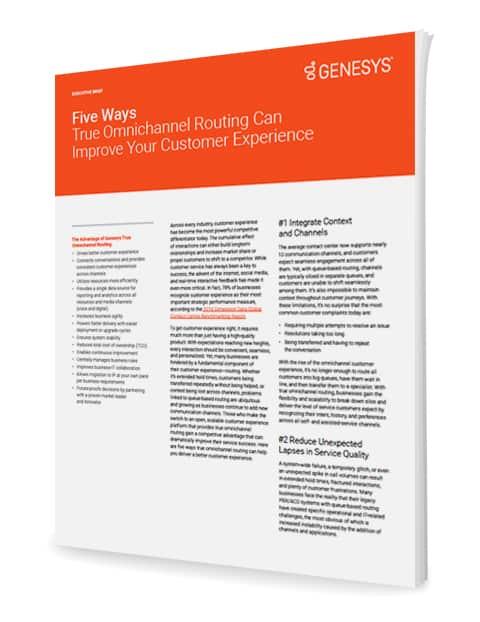 Five ways true omnichannel routing can improve your customer experience ex 3d en