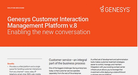 Genesys customer interaction management platform sb resource center en