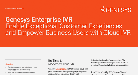 Genesys enterprise ivr ds resource center en