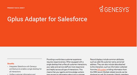 Genesys gplus salesforce ds resource center en