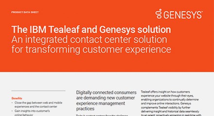 Genesys ibm tealeaf ds resource center en