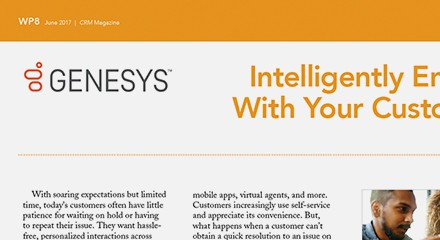 Genesys intelligently engage with your customers advertorial resource center en