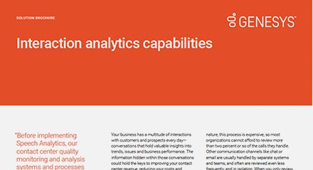 Interaction analytics capabilities — unlock the insights hidden within your customer interactions