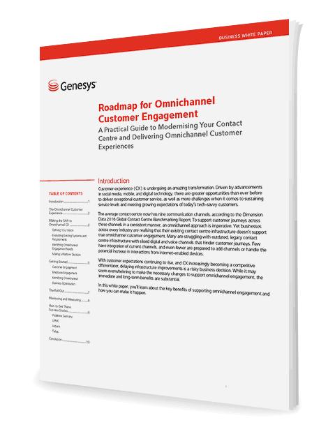 Genesys roadmap omnichannel customer engagement 3d anz