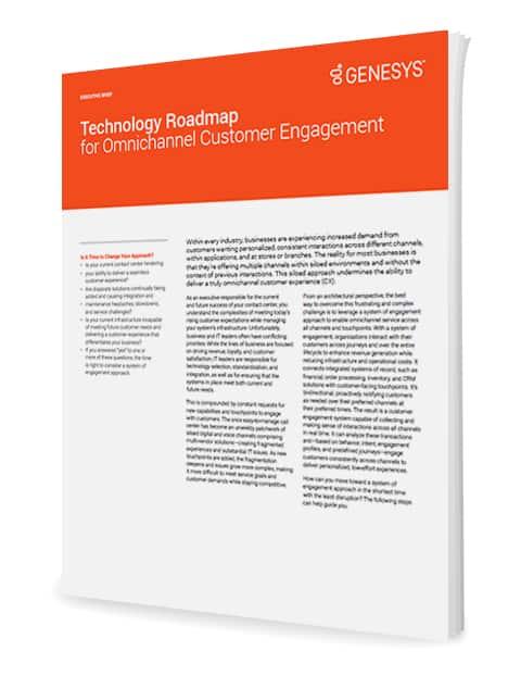 Genesys technology roadmap for omnichannel customer engagement eb 3d en
