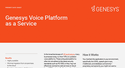 Genesys voice platform as a service ds resource center en