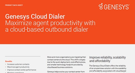 Genesys cloud dialer ds resource center en