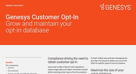 Genesys customer opt in ds resource center en