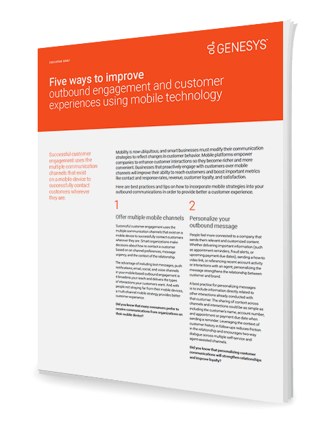 Genesys five ways improve outbound engagement eb 3d en