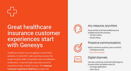 Great healthcare insurance customer experiences start with genesys br resource center en