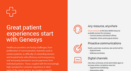 Great patient experiences start with genesys br resource center en