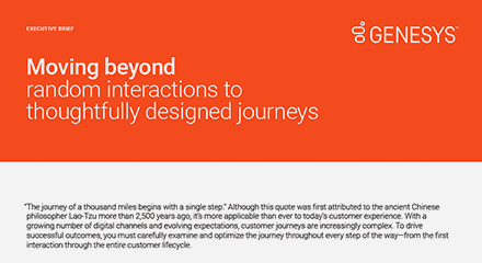 Moving beyond random interactions to thoughtfully designed journeys resource center en