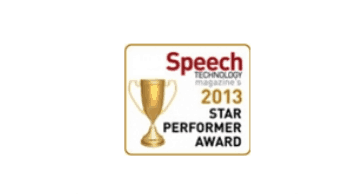 Speech industry star performer 2013