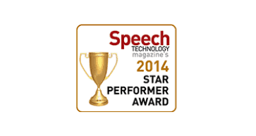 Speech Industry-Star Performer Award 2014
