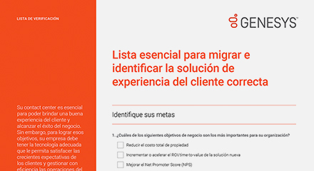 [the essential migration checklist for identifying the right customer experience solution cl] resource center {es]