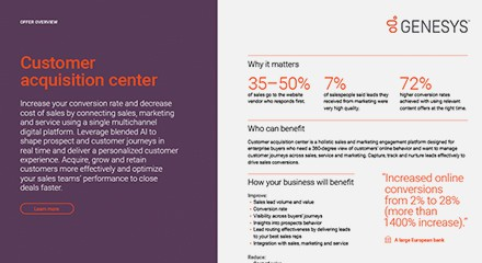 Play 4 customer acquisition center offer overview resource center en