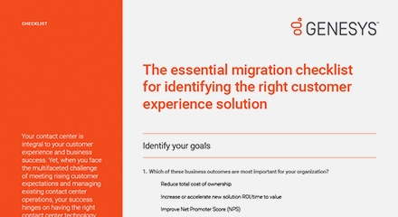 The essential migration checklist for identifying the right customer experience solution cl resource center en