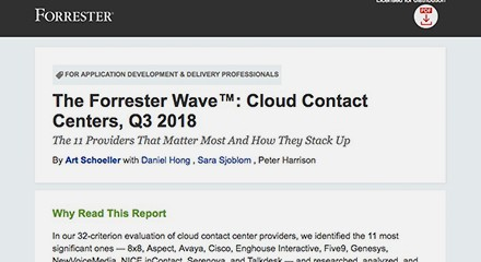Forrester wave cloud cc launch resource center