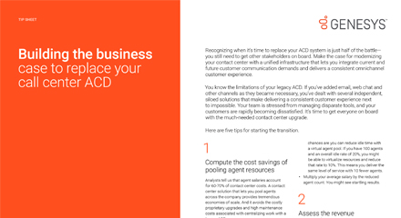 Building the business case to replace your call centre ACD