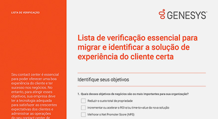 [the essential migration checklist for identifying the right customer experience solution cl] resource center {pt]