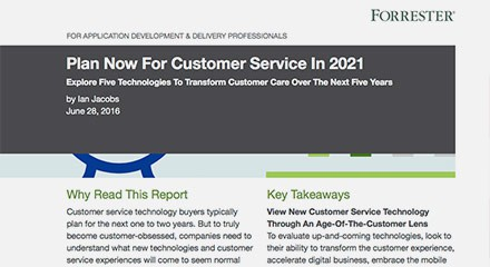 Forrester Report: Planning for Customer Service in 2021 | Genesys