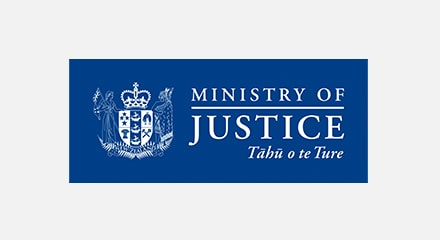 New Zealand Ministry of Justice Logo